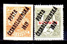 Cecoslovacchia-062 - Valori Del 1919 (+) Hinged - Senza Difetti Occulti. - Cecoslovacchia