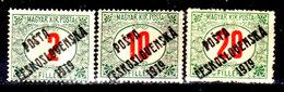 Cecoslovacchia-063 - Valori Del 1919 (+) Hinged - Senza Difetti Occulti. - Cecoslovacchia