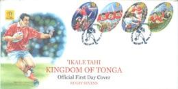 TONGA - FDC - 27.7.2002 - RUGBY SEVENS  - Yv 1207-1210 - Lot 17525 - Tonga (1970-...)