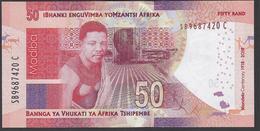 South Africa - 50 Rand -  MANDELA Centenary - 1918 - 2018 - SB9687420 C - UNC - Afrique Du Sud
