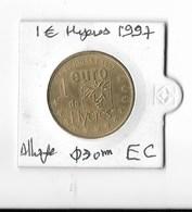 Pièce1 Euro Jeton Euros Des Villes Hyères 1 € 1997 EC  Monnaie Temporaire 1996-2002 - Euros Of The Cities