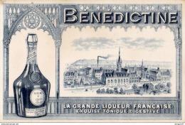 SUPERBE BUVARD  BÉNÉDICTINE LA GRANDE LIQUEUR FRANÇAISE  .........couleur Gris Bleuté - Liquor & Beer