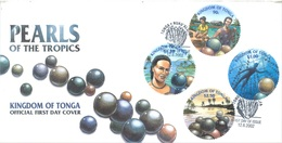TONGA - FDC - 12.6.2002 - PEARLS OF THE TROPICS  - Yv 1203-1206 - Lot 17526 - Tonga (1970-...)