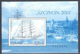 Poland 2013 -Rally Of Great Sailing Ships - Mi.m/s 218 - MNH(**) - Blokken & Velletjes
