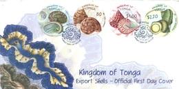TONGA - FDC - 13.12.2001 - EXPORT SHELLS  - Yv 1194-1197 - Lot 17527 - Tonga (1970-...)