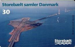 TARJETA TELEFONICA DE DINAMARCA. TDS024 - Storebaelt - Bridge Over Great Belt 1 (131) - Dinamarca