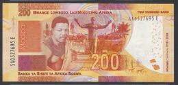 South Africa - 200 Rand -  MANDELA Centenary - 1918 - 2018 - SA0527695 E   - UNC - Sudafrica