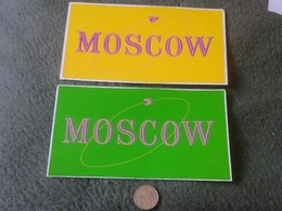 PEGATINA ADHESIVO STICKER LOTE DE 2 PEGATINAS MOSCOW MOSCU RUSIA UNION SOVIÉTICA SOVIET UNION RUSSIA ASTRONOMY ?? VER FO - Pegatinas
