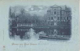 """1899 Gruss Aus Bad Elmen """" Schwanenteich """" - Schoenebeck (Elbe)"""