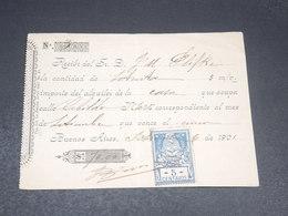 ARGENTINE - Timbre Fiscal Sur Document En 1901 - L 19927 - Argentinien