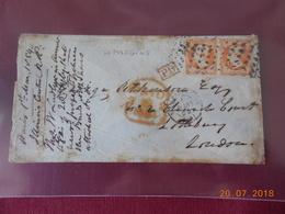 Lettre Avec No 16 En Paire...a Destination De Londres - 1849-1876: Periodo Classico