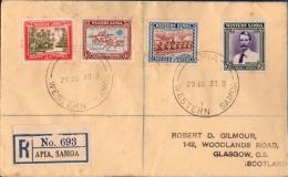 Samoa Wesstern 1939, August 29, Apia - New Zealand Administration 25 Year, R-FDC Village, Map, Dance Festival, Stevenson - Samoa