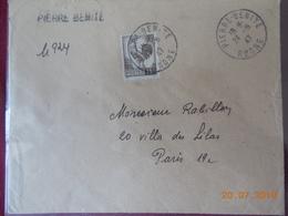 Lettre Avec No 647 Seul Sur Lettre. - 1921-1960: Période Moderne