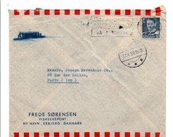 DANEMARK LETTRE POUR LA FRANCE DU 27/4/1950 - Dinamarca