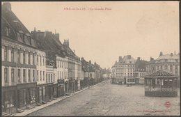 La Grande Place, Aire-sur-la-Lys, Pas-de-Calais, C.1920 - Delebarre CPA - Aire Sur La Lys
