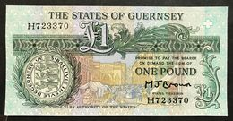 Guernsey 1 Pound Signature M J Brown  Q.fds  LOTTO 2026 - Guernsey