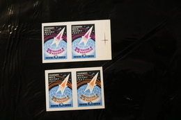 Russia 2622-23 Space Imperforate Pairs MNH 1962 A04s - 1992-.... Federation