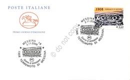Terremoto Di Messina Del 1908 - FDC Cavallino Italia Repubblica 2008 - Francobolli