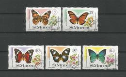 St Vincent 1978 Butterflies  Y.T. 506/510 (0) - Butterflies