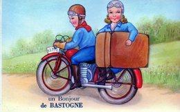 Un Bonjour De Bastogne.(10 Mini-vues)Fantaisie Moto.. - Bastogne