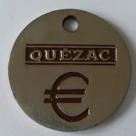Jeton De Caddie - QUEZAC - VITTEL  - En Métal - - Trolley Token/Shopping Trolley Chip