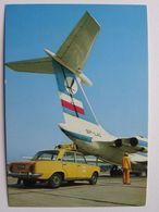 Iluszyn IL 62M /  Poland 1977 Year /  LOT Postcard / Fiat 125p - 1946-....: Moderne
