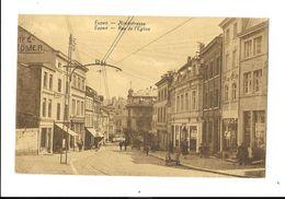 Eupen  ( M 4228 )  Vielle Tram En Bas , De Rue De L'Eglise - Eupen