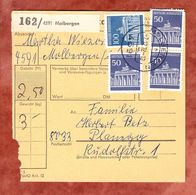Paketkartenteil, MiF Brandenburger Tor Berlin, Molbergen Nach Planegg 1972 (54633) - BRD
