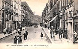 Paris Montmartre - La Rue Doudeauville (animée, Bureau De Police) - France