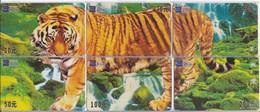 PUZZLE DE 6 TARJETAS DE CHINA DE UN TIGRE (TIGRE-TIGER) - Tarjetas Telefónicas