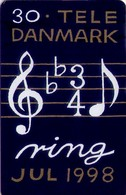 TARJETA TELEFONICA DE DINAMARCA. TDS040, Christmas 1998 (020) - Dinamarca
