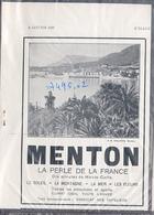 """{07495,02} Publicité """" Menton """", De L'illustration N° 4635 (1932). """" En Baisse """" - Advertising"""