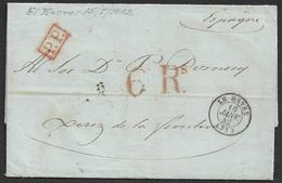 1842 LAC Le Havre A Jerez De La Frontera, Espagne - Postmark Collection (Covers)