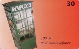 TARJETA TELEFONICA DE DINAMARCA. TDS041, 100 Years With Coin Phones (011) - Dinamarca