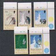 British Antarctic Territory (BAT) 1998 History Of Mapping 5v(+margin) ** Mnh (39605A) - Ongebruikt