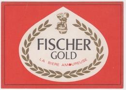 BRASSERIE DU PECHEUR STRASBOURG - SCHILTIGHEIM  ,FISCHER GOLD LA BIERE AMOUREUSE POSTCARD - Schiltigheim