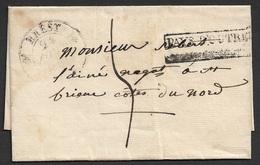 1833 LSC A St. Brieuc - Entree Par Voie Maritime Pays D'Outremer - 1801-1848: Précurseurs XIX