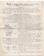CHARLEVILLE--Ardennes--Mode Opératoire Règle à Dessin à 3 Curseurs (brevetée S.G.B.G) De Mr DEHUT - Old Paper