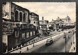 Roma Via Dei Fori Imperiali  VIAGGIATA 1959  COD C.2037 - Trasporti