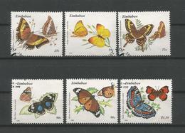 Zimbabwe 1992  Butterflies  Y.T. 256/261 (0) - Butterflies