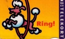 TARJETA TELEFONICA DE DINAMARCA. TDD003A, Jumping Dog - Ring (046) - Dinamarca