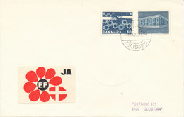 Denmark Cover Copenhagen 2-10-1972 Stamped With EUROPA CEPT And EFTA Stamps RARE Cover Only 300 Copies, And This Cover I - Denmark