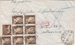ITALIEN 1936 - 5 C + 7x10 C Nachporto Auf Brief Trento > Berlin - 1900-44 Victor Emmanuel III.