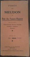 Carte Géographique De La Forêt De Meudon & Bois Des Fausses-Reposes - Edition 1941 Sur Dans Livret 1937 - Geographical Maps