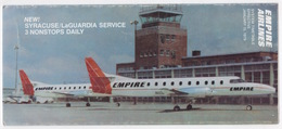 EMPIRE AIRLINES SYSTEM TIMETABLE EFFECTIVE JANUARY 15,1979 - Timetables