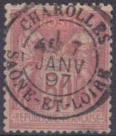 Charolles (Saône Et Loire) : Cachet à Date Type 18 Sur Sage. - Marcophilie (Timbres Détachés)