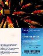 TARJETA TELEFONICA DE DINAMARCA. TDD004B, Fish; SN 6502 (072) - Dinamarca