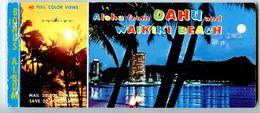 United States Modern Postcard Album Hawaii, Aloha From Oahu And Waikiki Beach - Oahu