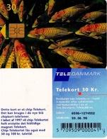 TARJETA TELEFONICA DE DINAMARCA. TDD004J, Fish; SN 6506 (076) - Dinamarca