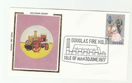 DOUGLAS FIRE DEPT EVENT COVER Fire Engine Isle Of Man Stamps Firefighing - Firemen